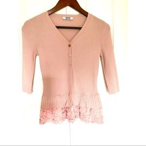 Moschino Cheap and Chic Blush Laced Cardigan 💖